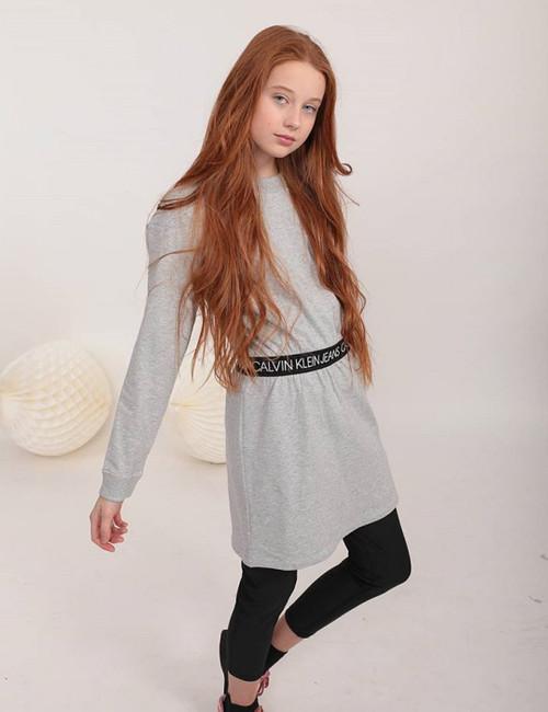 LOGO WAISTBAND DRESS