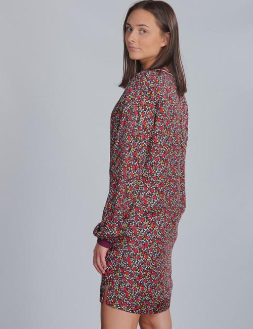 VARSITY FLOWER LS DRESS