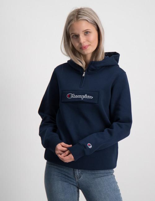 Hooded Half Zip Sweatshirt
