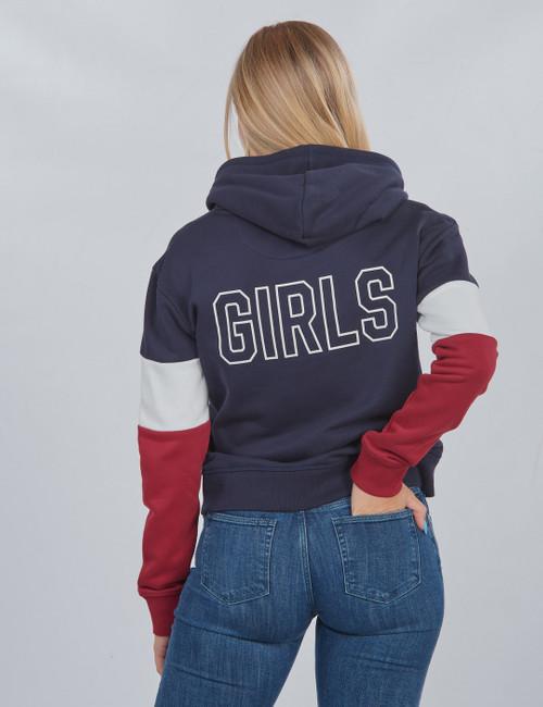 D1. GANT GIRLS BLOCK HOODIE