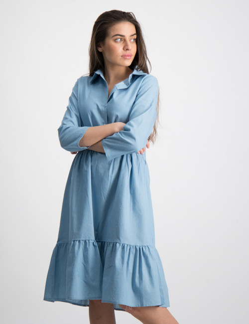 Mia Long Denim Dress