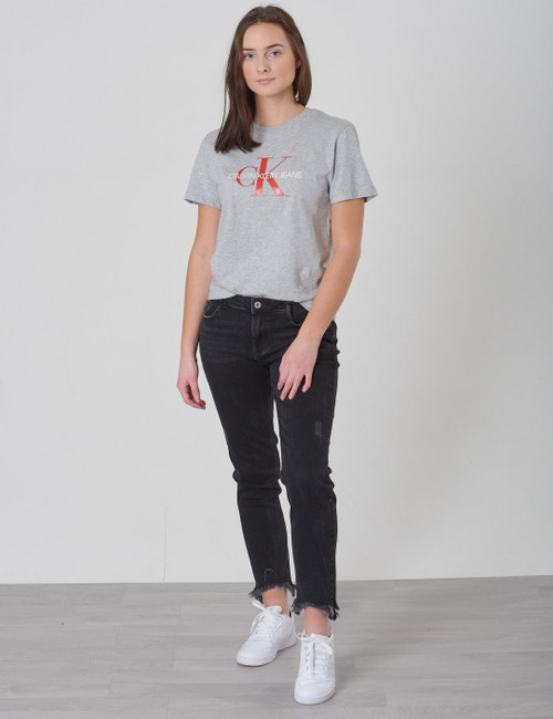 Relaxed Cropped Black Stone Jeans