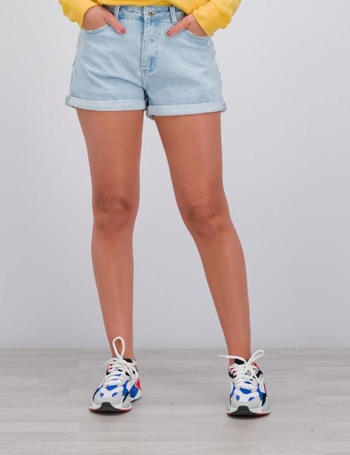 Mom Pale Blue  Shorts