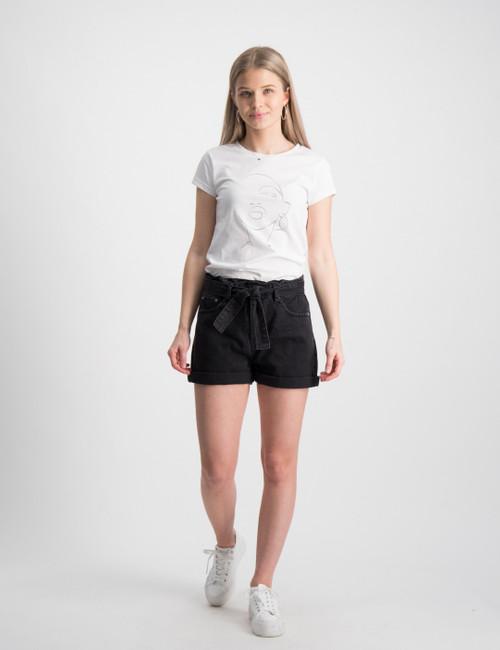 Paper Bag Night Black Shorts