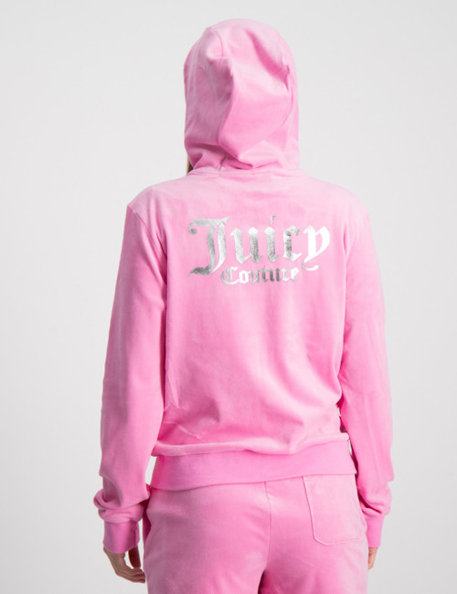 Juicy Velour Zip Through Hoodie