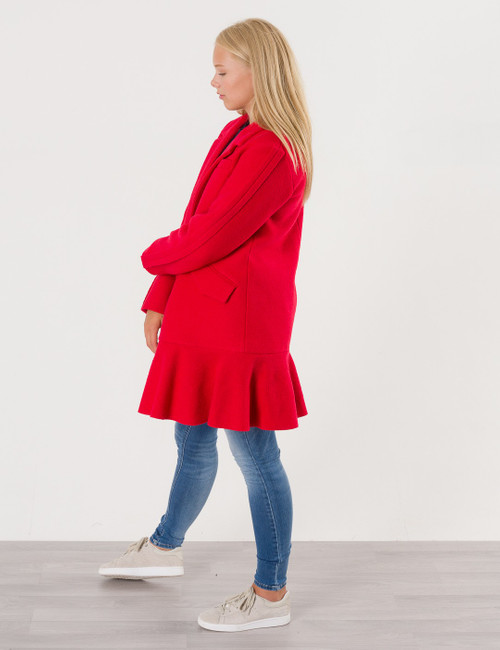 Edith Ruffle Coat