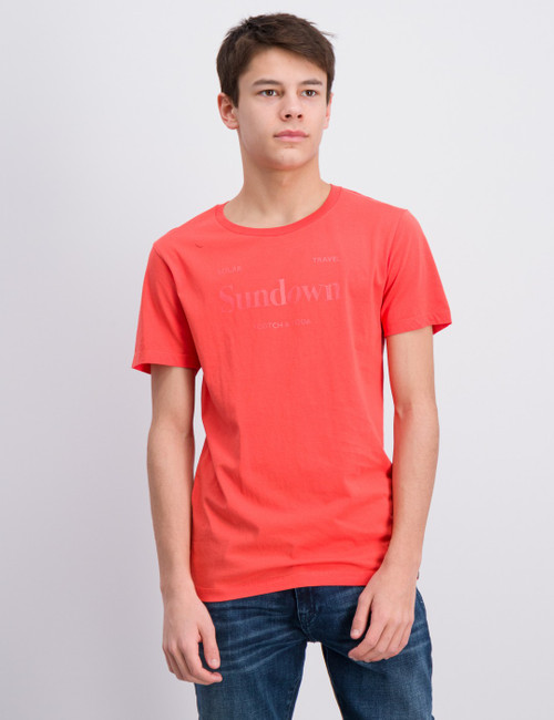 Tee with bright artworks