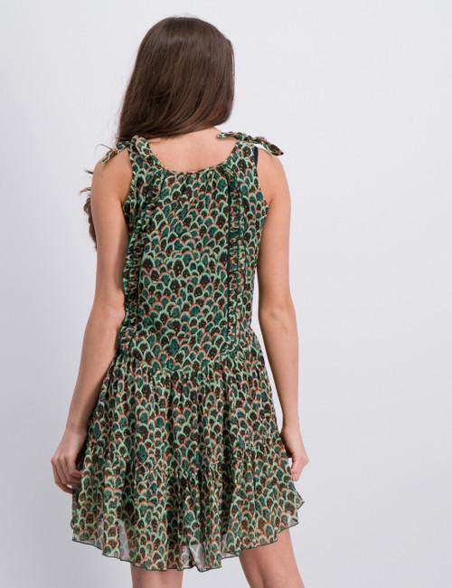 Drapey allover printed dress