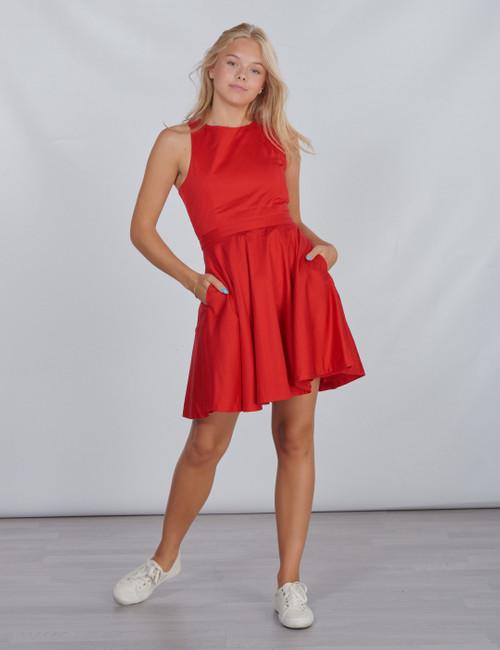 SOLID DRESS-DRESSES-WOVEN