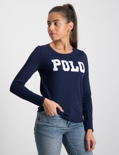 LS POLO TEE-TOPS-KNIT