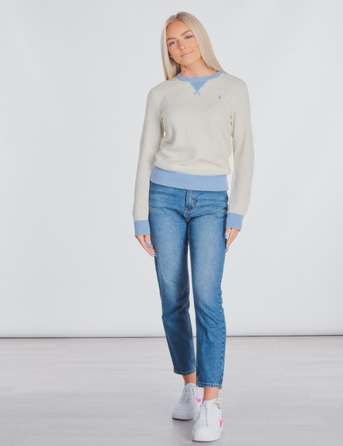LONG SLEEVE TEXTURED-TOPS-SWEATER